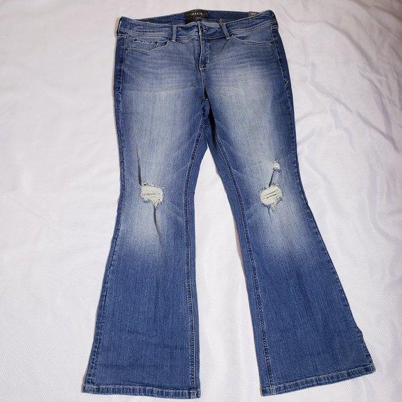Torrid Jeans Distressed Slim Bootcut (18R)